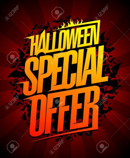 Halloween Special Offer, Holiday Clearance Sale Banner Concept