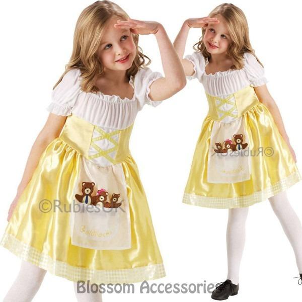 Ck848 Girls Goldilocks Three Bears Fancy Dress Story Book Week