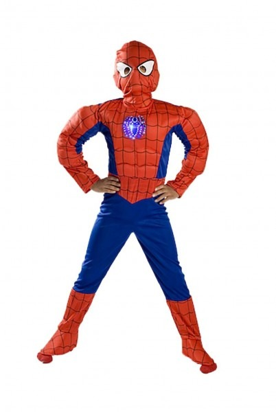 Monika Fashion World Spiderman Costume Boys Kids Light Up Size S M