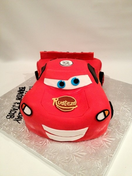 Lightning Mcqueen 3d Cars Disney Chocolate Cake Cut And Carve