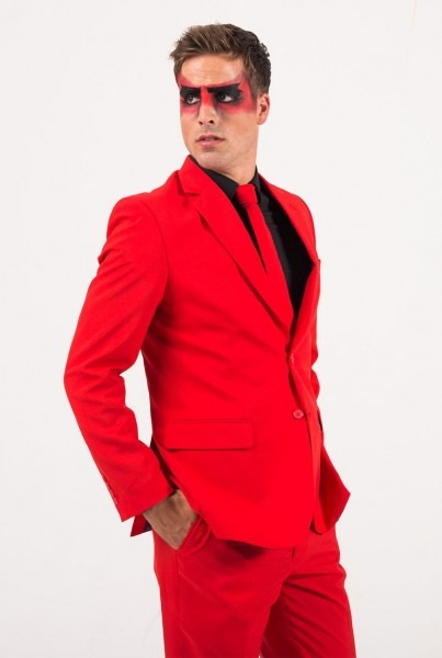 Creative Diy Devil Halloween Costume With Opposuits' Red Devil