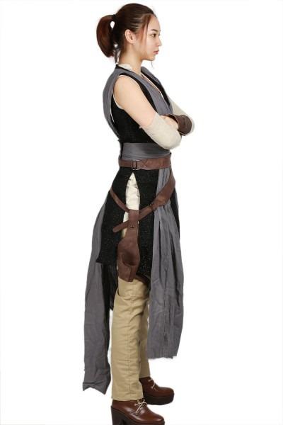 Star Wars The Last Jedi Grey Rey Cosplay Costume Adult Costumes