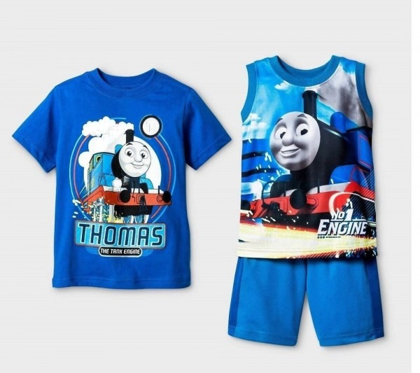 Toddler Thomas The Train 3pc Outfit Shirt & Shorts Set New With