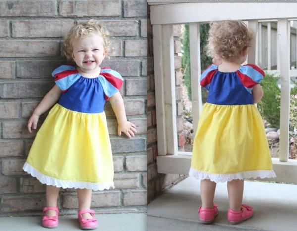 Snow White Dress Beautiful Inspired Peasant Dress 4t