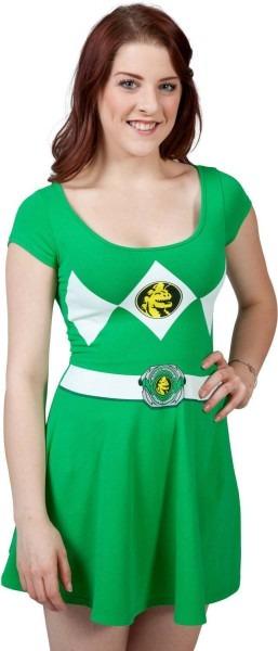 Green Power Ranger Skater Dress