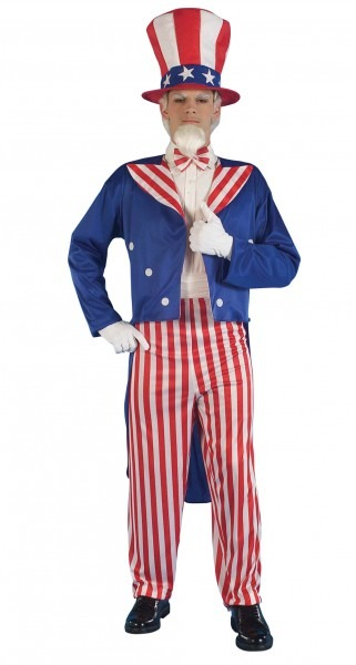 Uncle Sam Mens Fancy Dress American National Dress Usa Adults