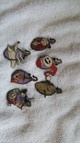 Disney Jack Skellington Sally Nightmare Before Christmas 6 Pin Set