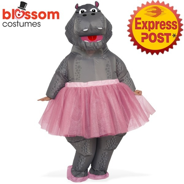 Ca571 Hippo Ballerina Inflatable Unisex Adult Costume Novelty Stag