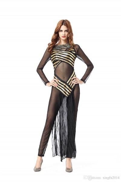 Adult Women Egyptian Goddess Costume Elegant Halloween Costumes