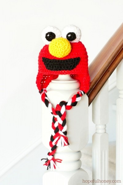 Sesame Street Elmo Inspired Crochet Hat Free Pattern And Cookie