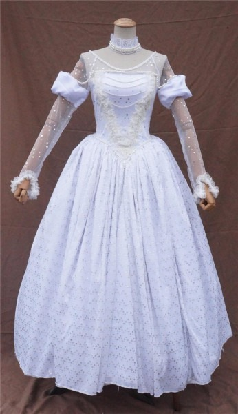 Alice In Wonderland The White Queen Cosplay Fancy Dress Adult