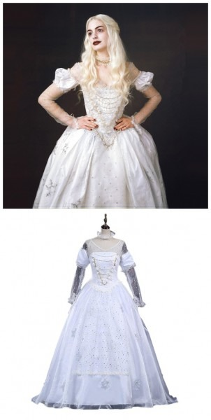 Alice In Wonderland The White Queen Costumes Cosplay With Wig