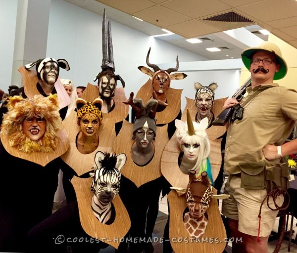 Amazing Taxidermy Animal Heads Funny Group Costume Designs Of
