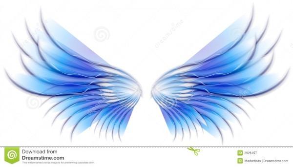 Angel Bird Or Fairy Wings Blue Stock Illustration