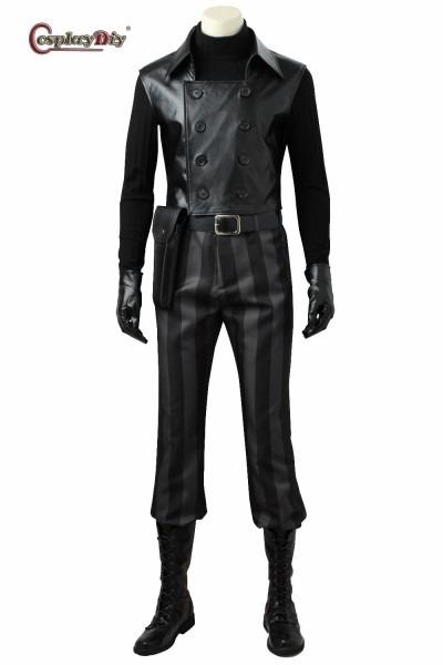 Anime Noir Cosplay Costume Black Suit Comics Set Superhero Outfit