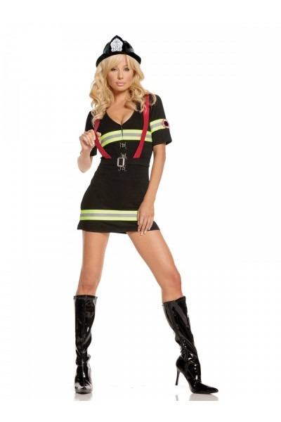 Sexy 2 Pc Women's Adult Ms  Blazin Hot Firefighter Halloween