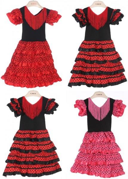 2019 Baby Girls Dress Polyester Material Baby Girl Flamenco