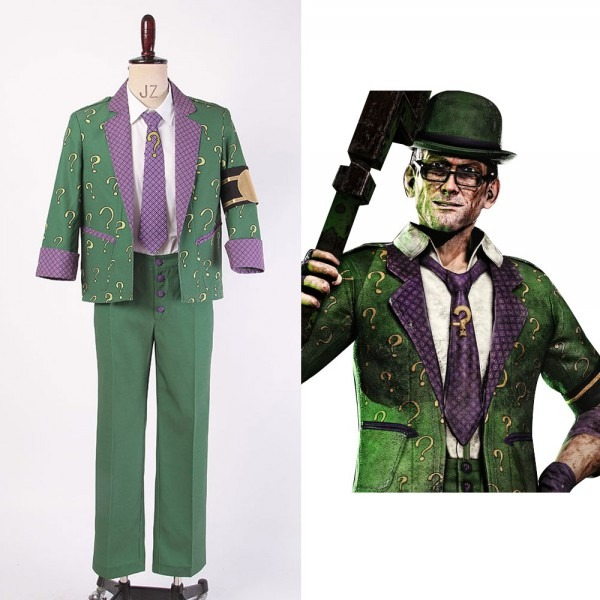 Batman  Arkham City The Riddler Dr Edward Nigma Outfit Cosplay