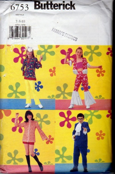 Butterick 6753 Yeah Baby, Austin Powers Movie Costume Patterns For