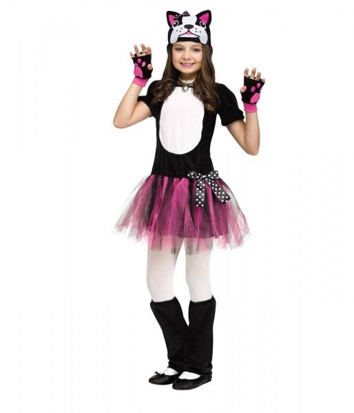Bulldog Puppy Dog Tutu Little Girls Halloween Costume, Small (4 6