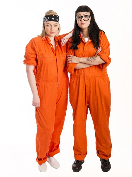 Orange Inmate Couple Costumes
