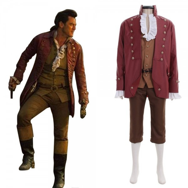 Beauty And The Beast Gaston Uniform Costume Halloween Carnival