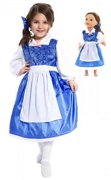 Belle's Blue Matching Dresses