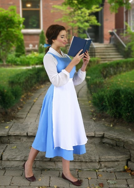 Belle Blue Village Dress Costume