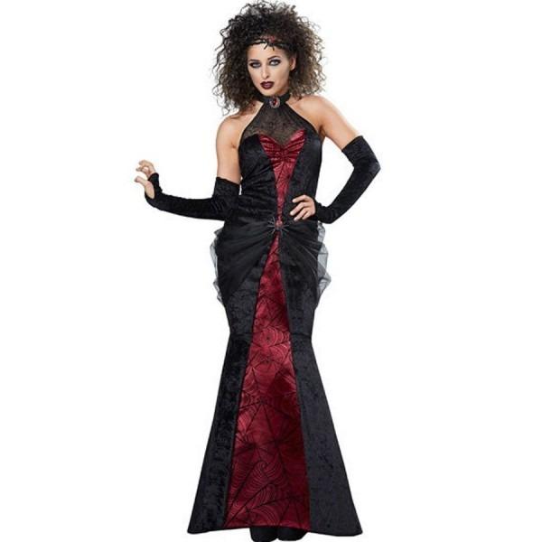 Black Red Gothic Black Widow Woman Halloween Costume  2bla38001