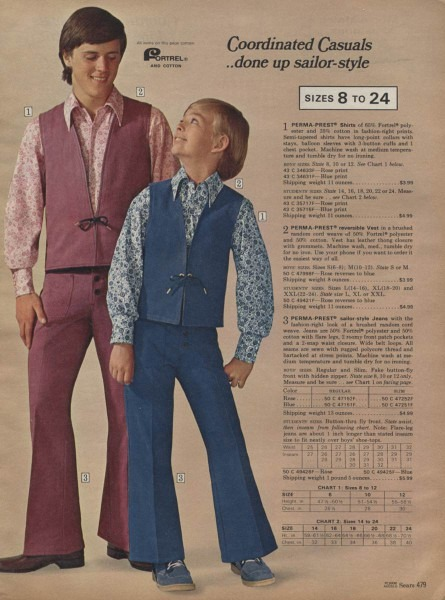 Boys Perma Prest Outfit From 1971 – Remembering The 70s