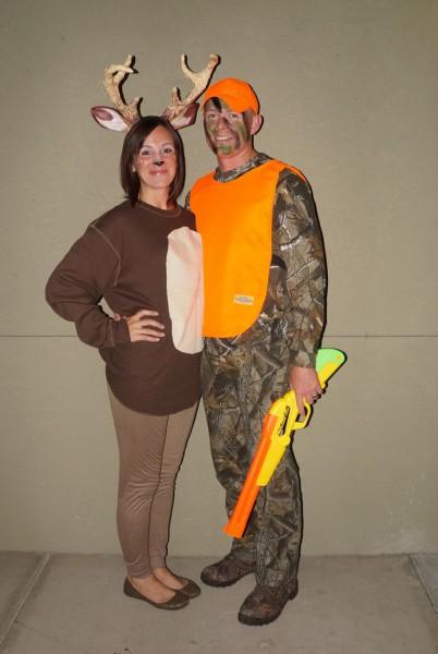 Couples Costume  ) Hunter And Deer Homeade Antlers, Foil, Masking