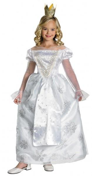 Alice In Wonderland Deluxe White Queen Girls Costume