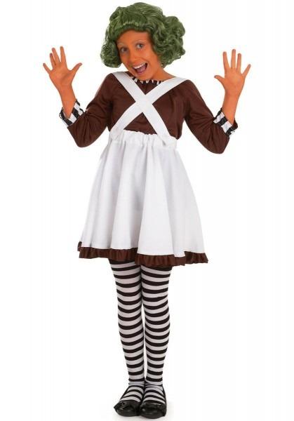 Kids Factory Worker Oompa Loompa Girl Costume