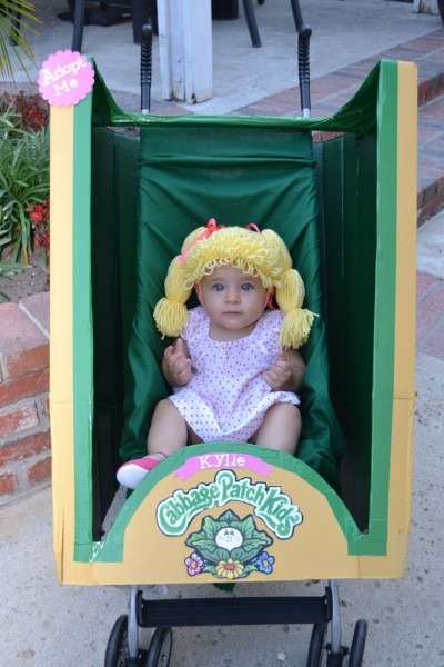 Infant Girl Diy Cabbage Patch Kid Halloween Costume  Made From