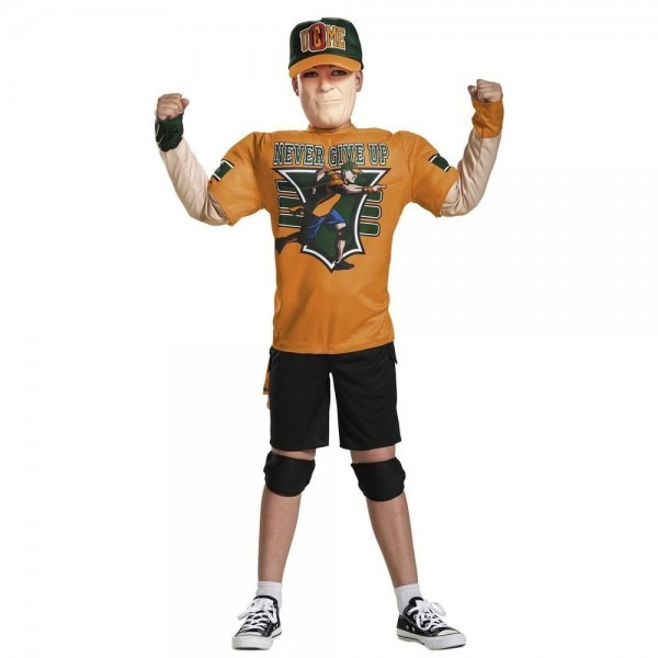 Child Boys Wwe John Cena Padded Muscle Chest Suit Mask Halloween