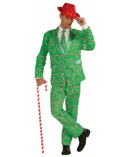 Adult Candy Cane Suit Christmas Costume