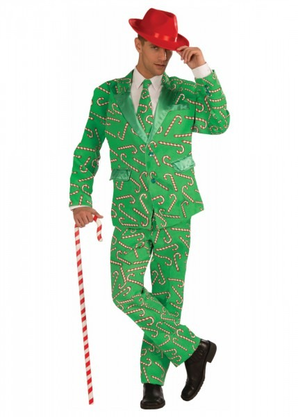 Christmas Candy Cane Men Suit