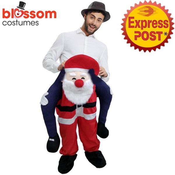 K363 Santa Christmas Xmas Shoulder Carry On Piggy Back Ride Me