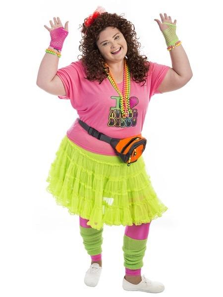 80s Fluoro Plus Size Costume