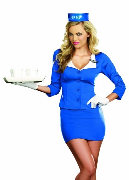 Dreamgirl Fly Me Airline Stewardess Costume