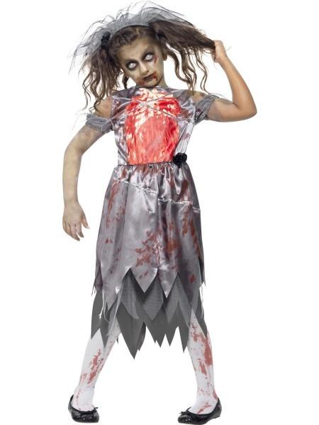 Child Zombie Bride Costume 43027 Fancy Dress Ball, Halloween
