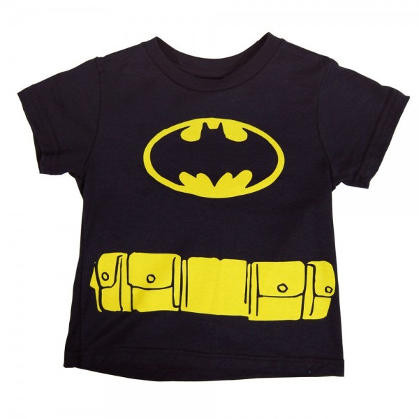 Childrens Batman Cape T Shirt Black