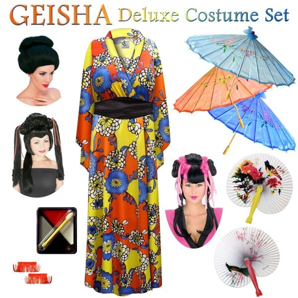 Chrysanthemum Floral Print Geisha Costume Plus Size & Supersize 0x