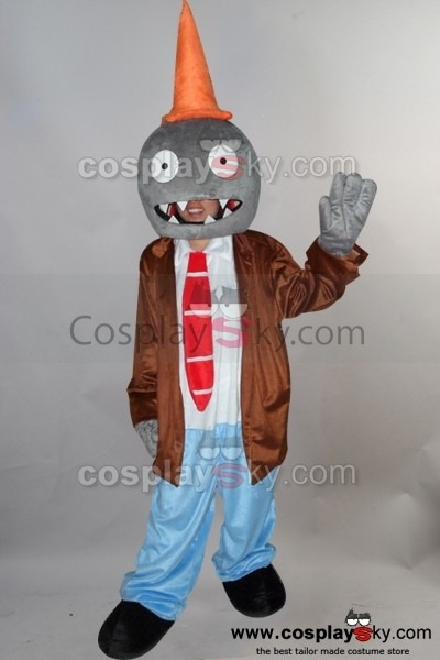 Conehead Zombie Plants Vs  Zombies Mascot Costume