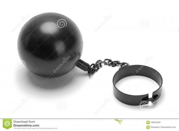 Plastic Ball And Chain Stock Photo  Image Of Behind