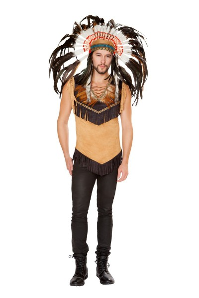 Sexy Brown Native Indian Mens Costume
