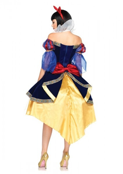 Blue Yellow 3 Piece Deluxe Snow White Costume @ Amiclubwear