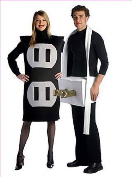 Halloween ~ Plug And Socket Costume Funny Couples Ideas Halloween
