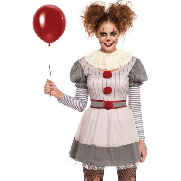 Creepy Clown Womes Halloween Costume