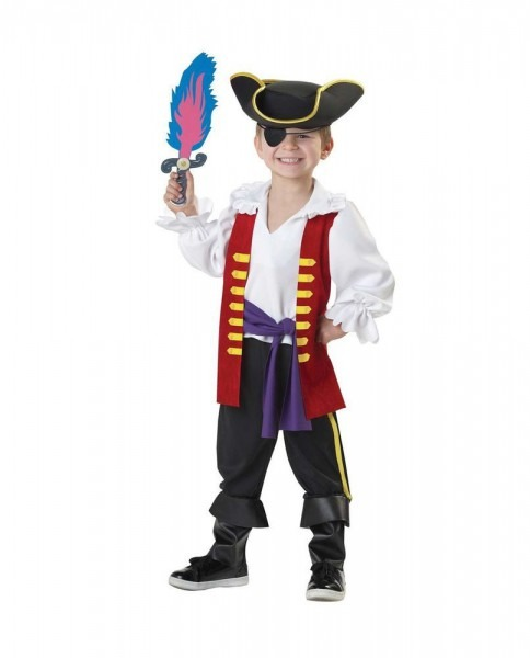 Boy's Captain Feathersword Pirate Costume Wiggles 4